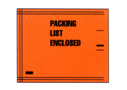 fluorescent poly mils spec packing list envelopes