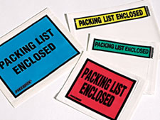Color Pres-Quick® Packing List Envelopes