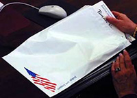 Patriotic Water Resistant Poly Courier Mailing Envelopes