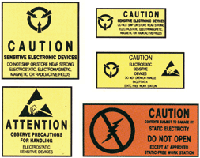 Pressure-Sensitive Warning Labels