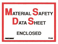Material Safety Data Sheet Envelopes