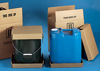 Overpack Cartons for Steel and Plastic Pails