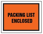 Packing List Envelope - Full Face Printed Packing List Enclosed  - 4 1/2