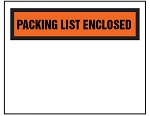 Packing List Envelope - Partial Printed Face Clear Window Packing List Enclosed - 4 1/2