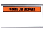 Packing List Envelope - Partial Printed Face Clear Window Packing List Enclosed - 5 1/2