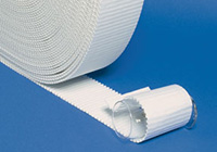 white corrugated cardboard wrap