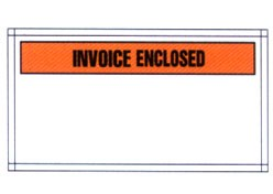 "Packing List Envelopes - Partial Face Printed Invoice Enclosed Adhesive Poly Envelope - 5 1/2"" x 10"" (ZPQ27BL)"
