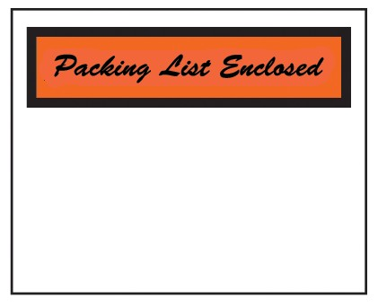 "Packing List Envelope - Partial Printed Face Clear Window Packing List Enclosed Cursive Font - 4 1/2"" x 6"" (ZPQ2BL)"