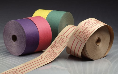 "Color Coded YELLOW Gummed Sealing Tape - 3"" x 375'"