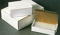 "15 x 11 1/8 x 2"" White Corrugated Cardboard Mailers (ZLP19)"