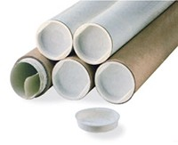"White Mailing Tubes with End Caps - 2 x 24"" ( Z224W)"