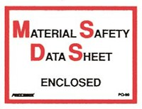 "Material Safety Data Sheet Enclosed Adhesive Backed PresQuick Poly Envelopes - 6 1/2"" x 5"" (ZPQ99BL)"