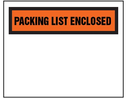 "Packing List Envelope - Partial Printed Face Clear Window Packing List Enclosed - 6 1/2"" x 5"" (ZPQ25BL)"