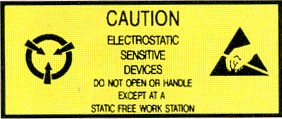 Anti Static Pressure Sensitive Warning Labels - Caution Static Sensitive (ZSWLC125)