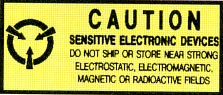 Anti Static Pressure Sensitive Warning Labels - Caution Static Sensitive (ZSWLC582)